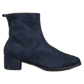 Small Swan Slip-on Boots Suede albastru