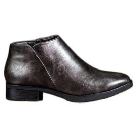 Daszyński Boots On Flat Heel gri