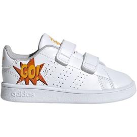 Pantofi Adidas Advantage I Jr EF0305 alb