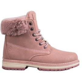 Cizme din brocadă MCKEYLOR roz
