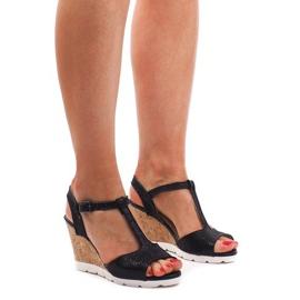 Sandale cu fustă YH2709 Negru