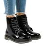 Cizme negre din piele patentată TL142-1 negru