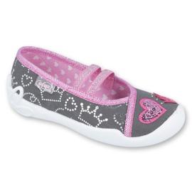 Încălțăminte pentru copii Befado 116X257 roz gri