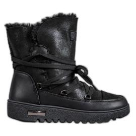 Cizme de zăpadă cu sclipici MCKEYLOR negru