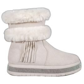 SHELOVET Cizme de zăpadă cu franjuri maro