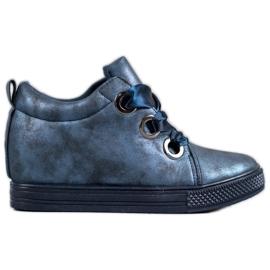 New Tlck Pantofi legați cu o panglică albastru