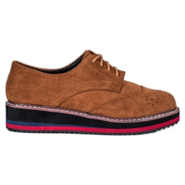 Vices Camel pantofi maro