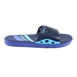 Papuci pentru bărbați negri pentru albastru naval Atletico