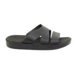 Papuci de platformă negri Atletico 185 negru
