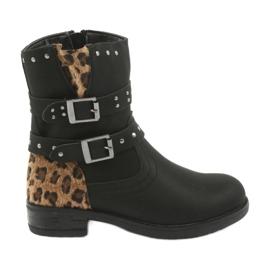 Cizme de leopard negru Jets American Club