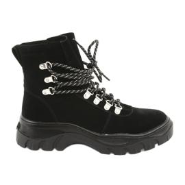 Legat pantofi trapez negri Sergio Leone 729 negru