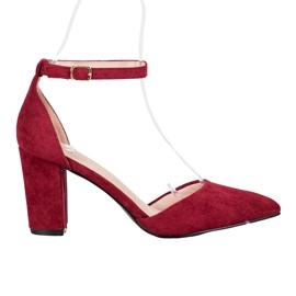 Pompe VINCEZA elegante roșu