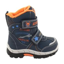 American Club Pantofi cu ghete americane cu albastru bleumarin RL35