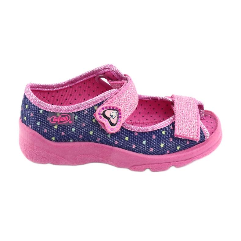 Pantofi pentru copii Befado 969X143 albastru marin roz