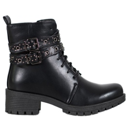 SHELOVET Lace-up Workers negru