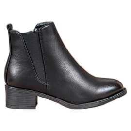 Ideal Shoes Cizme clasice cu bandă elastică negru