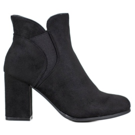 Marquiz Slip-on Boots Suede negru