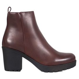 SHELOVET Boots On Platform roșu