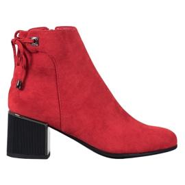 Goodin Cizme de piele roșie roșu
