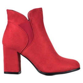 Marquiz Slip-on Boots Suede roșu