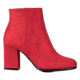 Marquiz Cizme de piele roșie roșu