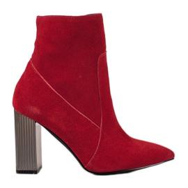 Goodin Cizme sexy din piele roșu