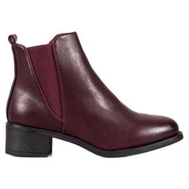 Ideal Shoes Cizme clasice cu bandă elastică roșu