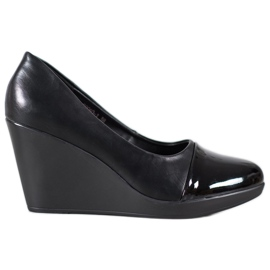 J. Star Pompe pe wedge negru