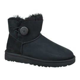Pantofi Ugg Mini Bailey Button Ii W 1016422-BLK negru
