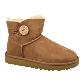 Pantofi Ugg Mini Bailey Button Ii W 1016422-CHE maro