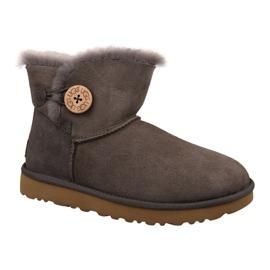 Pantofi Ugg Mini Bailey Button II W 1016422-MOLE maro