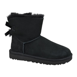Pantofi Ugg Mini Bailey Bow Ii W 1016501-BLK negru