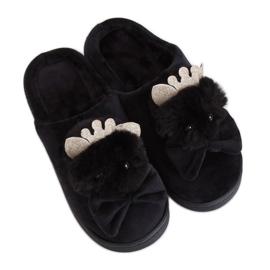 Papuci de damă negri DD112 Negru