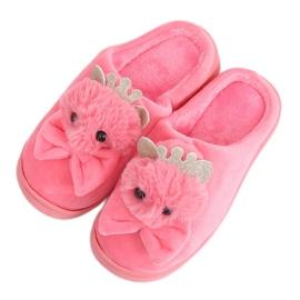Papuci de damă roz închis DD112 Roșu