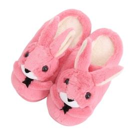 Papuci de femei iepure roz închis MA17 Roșu