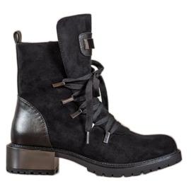Goodin Lace-up cizme negru