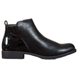 J. Star Boots On Flat Heel negru