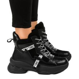 Adidasi negri izolati pentru femei F803-7 negru