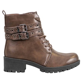 SHELOVET Lace-up Workers maro
