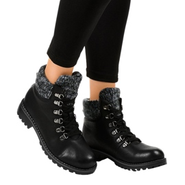 Cizme negre fără izolație Z186 negru