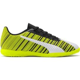 Cizme de fotbal Puma One 5.4 It M 105654 04 alb, negru, galben