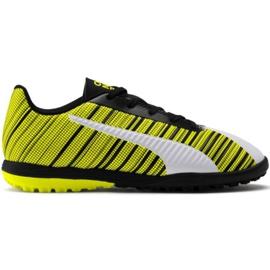 Pantofi de fotbal Puma One 5.4 Tt Jr 105662 03 alb, negru, galben