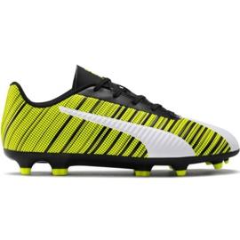 Puma One 5.4 Fg Ag Jr 105660 03 pantofi de fotbal alb, negru, galben