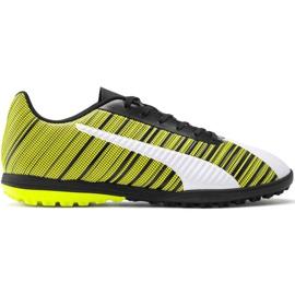 Pantofi de fotbal Puma One 5.4 Tt M 105653 03 alb, negru, galben