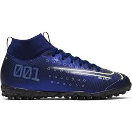 Pantofi de fotbal Nike Mercurial Superfly 7 Academy Mds Tf Jr BQ5407 401 bleumarin bleumarin