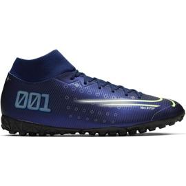 Pantofi de fotbal Nike Mercurial Superfly 7 Academy Mds Tf M BQ5435 401 albastru bleumarin
