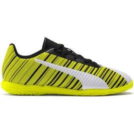 Cizme de fotbal Puma One 5.4 It Jr 105664 04 alb, negru, galben