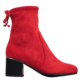 Goodin Cizme roșii elegante roșu