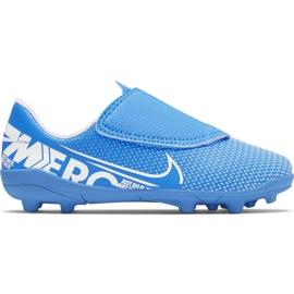 Pantofi de fotbal Nike Mercurial Vapor 13 Club Mg PS (V) Jr AT8162 414 albastru albastru