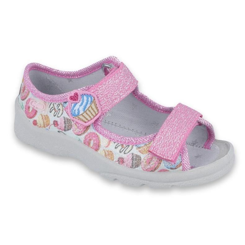 Pantofi pentru copii Befado 969X142 roz multicolor